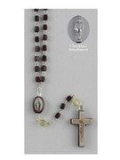 Rosary Necklace: Miraculous 3mm wood bead (RX1702)