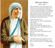 TJP Holy Card: Mother Teresa (TJP811)