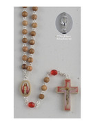 Rosary Necklace: Sacred Heart 6mm Beads (RX01101)