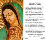 TJP Holy Card: Our Lady of Guadalupe (TJP820)