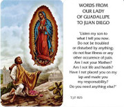 TJP Holy Card: Words From Our Lady of Guadalupe to Juan Diego (TJP825)