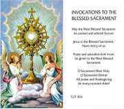 TJP Holy Card: Invocations to the Blessed Sacrament (TJP826)