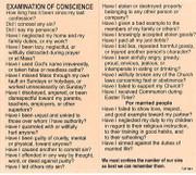 TJP Holy Card: Examination of Conscience (TJP841)