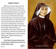 TJP Holy Card: Christ's Mercy St Maria Faustina (TJP849)