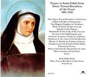 TJP Holy Card: St Edith Stein/St Teresa Benedicta (TJP851A)