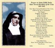 TJP Holy Card: St Edith Stein/St Teresa Benedicta (TJP851B)