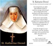 TJP Holy Card: St Katherine Drexel (TJP853A)
