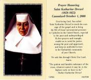 TJP Holy Card: St Katherine Drexel (TJP853B)