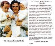 TJP Holy Card: St Gianna Beretta Molla (TJP864)