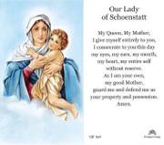TJP Holy Card: Our Lady of Schoenstatt (TJP869)