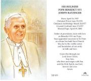 TJP Holy Card: Pope Benedict XVI (TJP879)