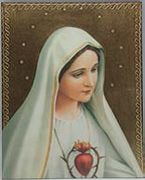 Quality Wood Plaque: Immaculate Heart of Mary (PL10202)