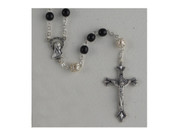 Rosary: Black 6mm beads (RX256K)