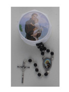 Glass Rosary & Box: St Anthony (RX36911)