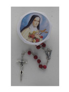 Boxed Rosary: St Therese (Rose Perfume)