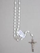 Rosary: Plastic Silver Links Luminous Glow in Dark (RO516L)