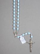 Rosary: Plastic Silver Links Blue (RO516B)