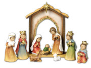 Nativity Set with Stable 10 pieces 14cm (NS19444)