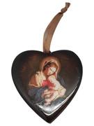 Christmas Ornament Heart: Mother & Child 7.5cm (NST1952)