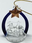 Christmas Ornament Glass: Nativity 5cm (NST1957)