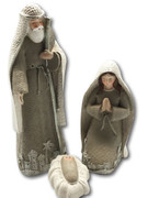 Resin Nativity 3 Piece 18cm (NS19734)