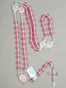 Rosary: Translucent Round Plastic Pink (RO607P)