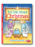 Children's Colouring Book: Tell Me About Christmas
