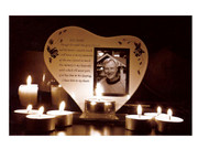 Memorial Frame/Candle: His Smile (GE3566)