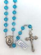 Rosary: Translucent Round Plastic Blue (RO607B)