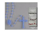 Plastic Cord Rosary: Blue (RO9827B)