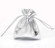 Silver Drawstring Pouch:  9x 7cms (GE6805)