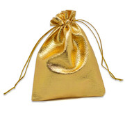 Gold Drawstring Pouch:  12x9cms (GE6806)