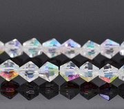 Crystal Beads 6mm Bicone Clear AB  x 95 (CB601)
