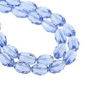 Crystal Beads 6x8mm Oval Blue  x 72 (CV601)