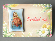 2911 Series Plastic MINI Plaque - Immaculate Heart(PL291102)