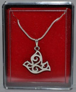 Confirmation Necklace: Dove Silver Chain(JEF101)