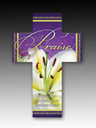 Easter Bookmark Cross (each): Praise (HCE7712)