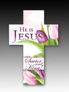 Easter Bookmark Cross (each): he Is Jesus (HCE7718)