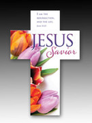 Easter Bookmark Cross (each): Jesus Savior (HCE7722)