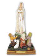 RESIN STATUE: Our Lady of Fatima and Children, 30CM