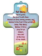 Wall Cross: Hail Mary 18cms(CRB10)