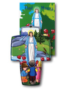 Wall Cross and Book: Hail Mary (CR3526)