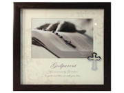 Baptism Gift: Frame with Cross Motif: Godparent (PLB6006)