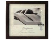 Baptism Gift: Frame with Cross Motif: Godparent (PLB6006)
