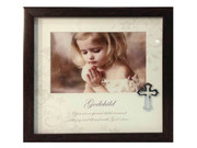 Baptism Gift: Frame with Cross Motif: Godchild (PLB6005)