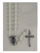 Plastic Rosary: Luminous Lourdes Water (RX202AL)