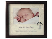 Baptism Gift: Frame with Cross Motif (PLB6003)