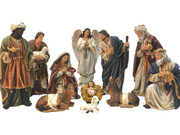 Nativity Set: 11 pieces, 20cm Canvas Finish(NS10026)
