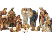 Nativity Set: 11 pieces, 30cm Canvas Finish(NS10025)