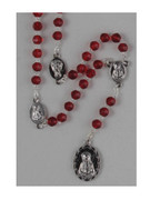 DOLOR GLASS ROSARY - RED (RX325ADR)